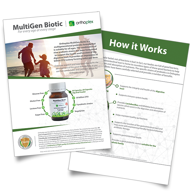 MultiGen Biotic Patient Flyer
